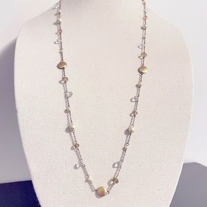 RW&CO. Gold & Pearl Necklace